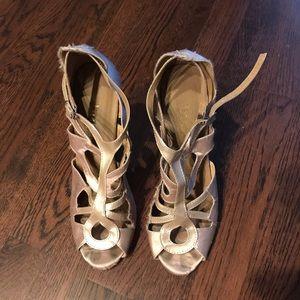 Burju dusty rose dance shoes